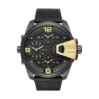 'GENUINE' DIESEL UBER CHIEF D7377 Black (band) Gold (dial) GNTLMEN Australia Diesel™ Watches GNTLMEN-JOSHBRNJAC