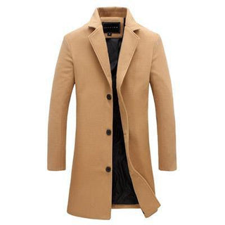 Gio Elegance Tailored Coat - Tweed & Cotton Blend Khaki / XXXL GNTLMEN Australia GNTLMEN-JOSHBRNJAC