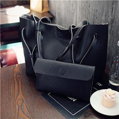 Oversize Double Strap Tote With Pouch Black / (30cm<Max Length<50cm) GNTLMEN Australia GNTLMEN-JOSHBRNJAC
