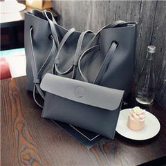 Oversize Double Strap Tote With Pouch Deep Gray / (30cm<Max Length<50cm) GNTLMEN Australia GNTLMEN-JOSHBRNJAC