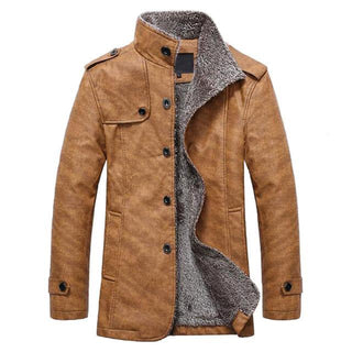 Ralph Winter Coat - Pure Leather & Cotton Luxury Blend earth yellow / L GNTLMEN Australia GNTLMEN-JOSHBRNJAC