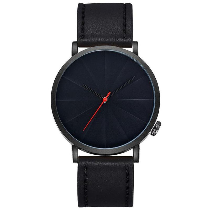 'ROME' Leather Wristwatch Black GNTLMEN Australia GNTLMEN-JOSHBRNJAC