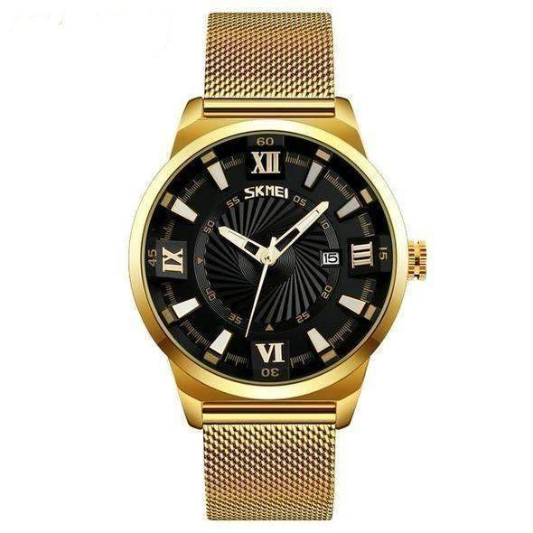'ROYALTY' Luxury Gold Quartz Waterproof Wristwatch Black gold GNTLMEN Australia ROYALTY GNTLMEN-JOSHBRNJAC