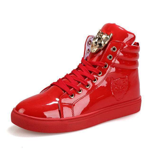Tiger High Rise Shoes Red / 6.5 GNTLMEN Australia GNTLMEN-JOSHBRNJAC