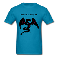 Black Dragon T-shirt - turquoise