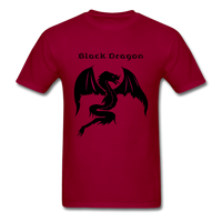 Black Dragon T-shirt - dark red