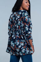 Floral Top With Tie Detail