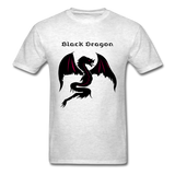 Black Dragon T-shirt - light heather grey
