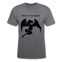 Black Dragon T-shirt - mineral charcoal gray