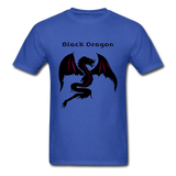 Black Dragon T-shirt - royal blue