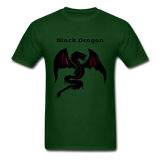 Black Dragon T-shirt - forest green