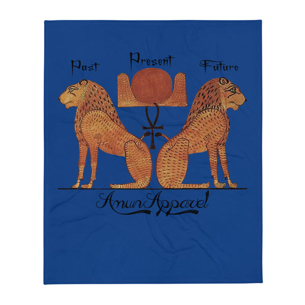 Aker- Past , Present, Future Throw blanket - 50×60