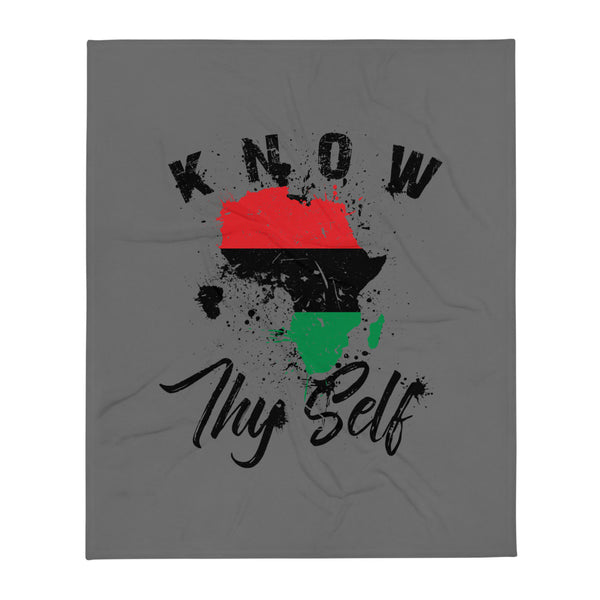Know Thy Self Throw Blanket  50x60