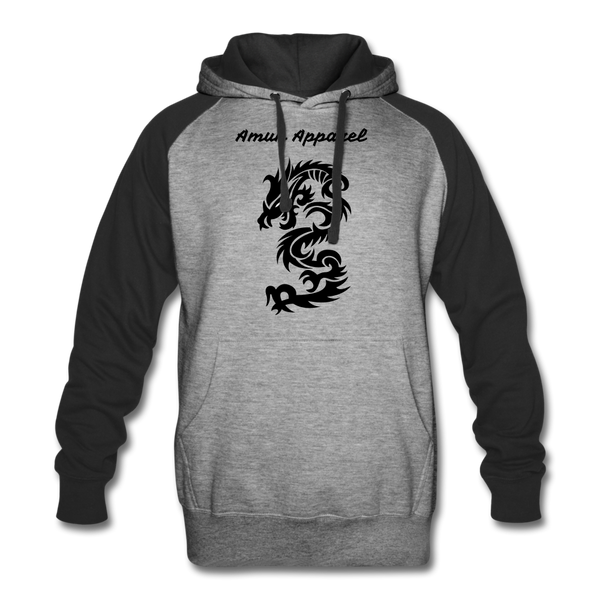 Amun Dragon Hoodie - heather gray/black