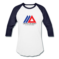 Amun Apparel Baseball T-Shirt - white/navy