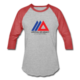 Amun Apparel Baseball T-Shirt - heather gray/red