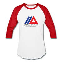 Amun Apparel Baseball T-Shirt - white/red