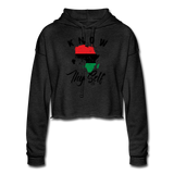 Know Thy Self Women's Cropped Hoodie - deep heather