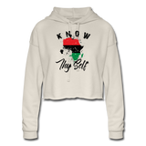 Know Thy Self Women's Cropped Hoodie - dust