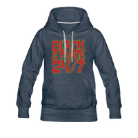 Women's 24/7 Premium Hoodie - heather denim