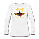 Maat Women's Slim Fit Long Sleeve T-Shirt - white