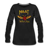 Maat Women's Slim Fit Long Sleeve T-Shirt - black