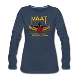 Maat Women's Slim Fit Long Sleeve T-Shirt - navy