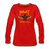 Maat Women's Slim Fit Long Sleeve T-Shirt - red