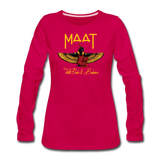 Maat Women's Slim Fit Long Sleeve T-Shirt - dark pink