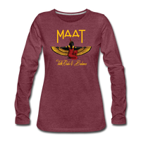 Maat Women's Slim Fit Long Sleeve T-Shirt - heather burgundy