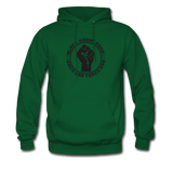 Black Knowledge Men's Hoodie - forest green