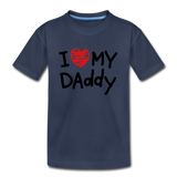 Love Daddy Premium Kid's T-Shirt - navy