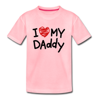 Love Daddy Premium Kid's T-Shirt - pink