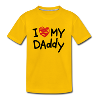 Love Daddy Premium Kid's T-Shirt - sun yellow
