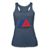 Life Full Of Legacy Women's Tri-Blend Racerback Tank Top - heather navy