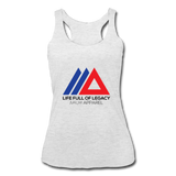 Life Full Of Legacy Women's Tri-Blend Racerback Tank Top - heather white