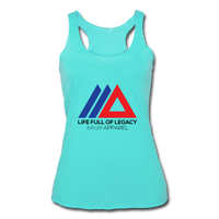 Life Full Of Legacy Women's Tri-Blend Racerback Tank Top - turquoise