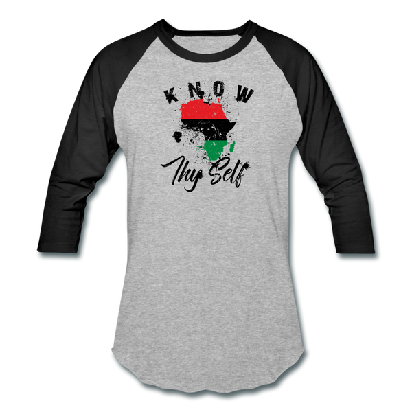 Know Thy Self Sports T-Shirt - heather gray/black