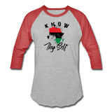 Know Thy Self Sports T-Shirt - heather gray/red