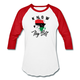 Know Thy Self Sports T-Shirt - white/red