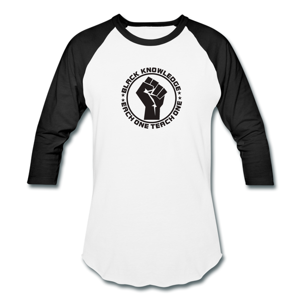 Black Knowledge Sports T-Shirt - white/black
