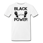 Black Power T-Shirt - white