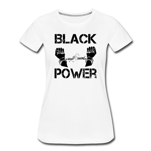 Women's Black Power T-Shirt - white