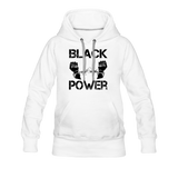Women's Black Power Hoodie - white