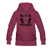 Women's Black Power Hoodie - burgundy