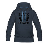 Women's Black Power Hoodie - navy