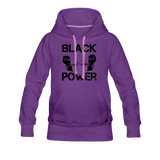 Women's Black Power Hoodie - purple