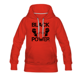 Women's Black Power Hoodie - red