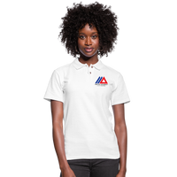 Amun Apparel Women's Pique Polo Shirt - white