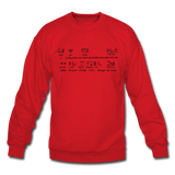 Metu Neter Crewneck Sweatshirt - red